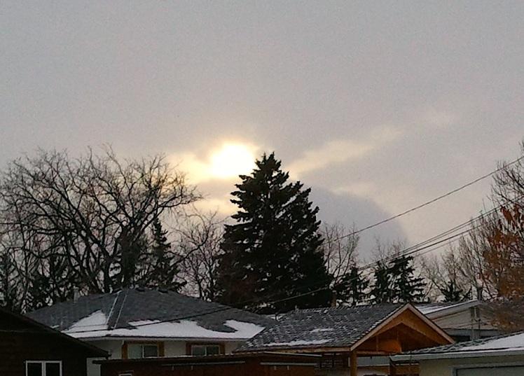 Winter Sun or Eye of Sauron....? You decide.
